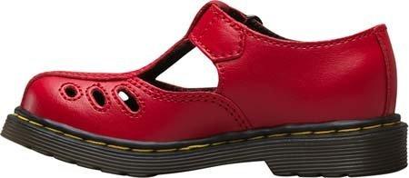 Dr. Martens Chaussures Ashby bébé fille chaussure décontractée en T en Bleu Marine et Rouge red