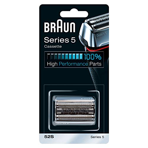 Testina Di Ricambio Braun 52S Color Argento, Compatibile con I Rasoi Series 5