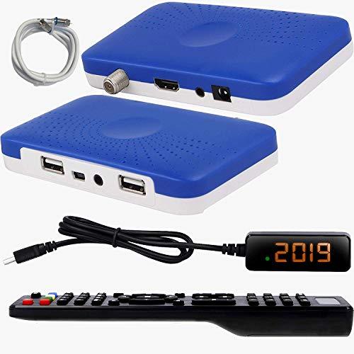 hd-line HD-90 Mini Sat Receiver Als Geschenk Antennenkabel für 2 Meter DVB S/S2 Satelliten Receiver Full HD 1080P HDMI 2 x USB 2.0 HDTV Digital Satelliten Receiver (Astra, Hotbird und Türksat)