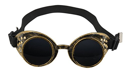 Boland 54503 Brille Steampunk, One Size (Steampunk Metall-brille)