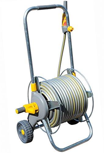 Hozelock 2436R0000 Dévidoir chariot métallique avec tuyau de 30 m