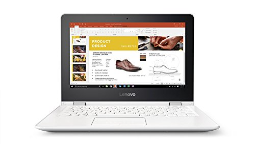 Lenovo YOGA 300 29,46cm (11,6 Zoll HD Touch) Slim Convertible Notebook (Intel Celeron N3060, 4GB RAM, 500GB HDD, Intel HD Grafik 400, Windows 10 Home) weiß (Snow White)