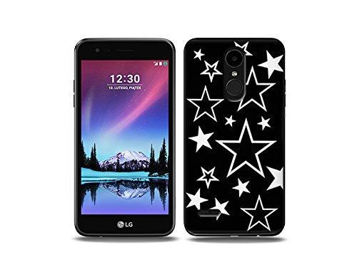 etuo LG K4 (2017) Handyhülle Schutzhülle Etui Hülle Case Cover Tasche für Handy Fantastic Case - Sterne