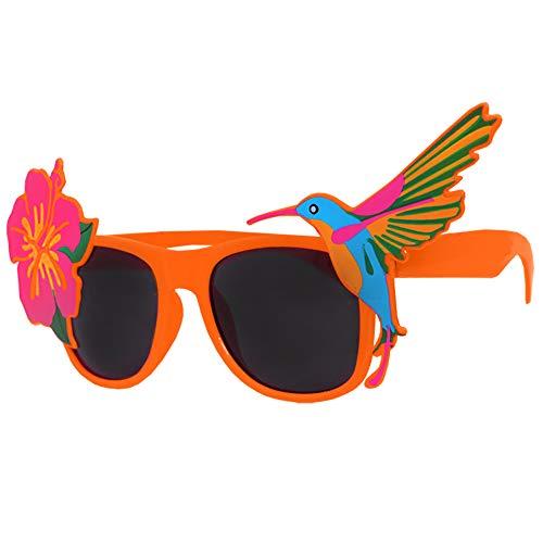 12 ORANGE Tropical Flamingo Brille mit dunklen Gläsern Katy Perry Stil ideal für Sommer Partys, Hawaiian, Luau, Beach