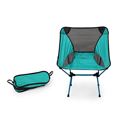 Folding Chair - Portable Ultra-light Moon Chair Camping Picnic Barbecue Fishing Sketch Holiday Party Beach But Also The Garden Moonlight Cooling Aluminum Alloy Oxford Cloth Chair