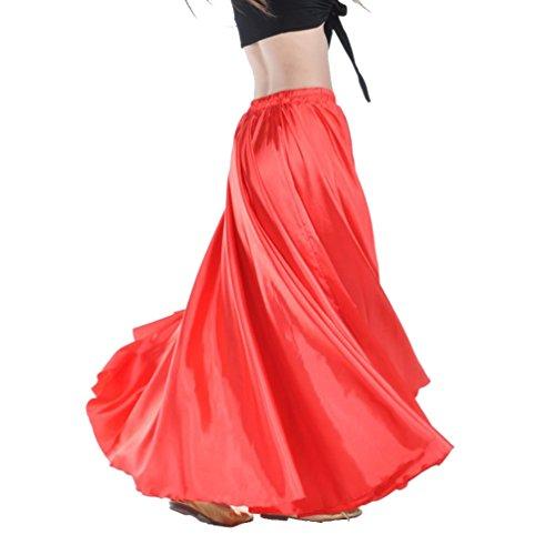 YouPue Damen Tanzkostüm Bauchtanz-Kostüm sexy High-End-Dual Rock Bauchtanz Leistungen große Rock Komfort (nicht enthalten Gürtel) Gürtel Kostüme Bauchtanz Taille Kette Rot (Tanz-rock Lange)