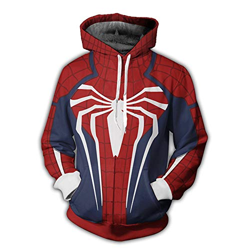 Lzh3D Unisex Hoodie Anime Kapuzenpullover 3D Druck Muster Sweatshirt Pullover Cosplay Spiderman ()