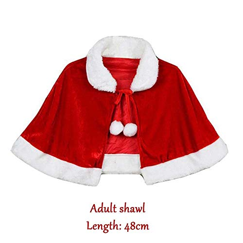SPFAZJ Santa Anzug Kostüm Weihnachten Cape Kostüm für Kinder und Santa Claus Kleid Weihnachten - Claus Kleid Plus Kostüm