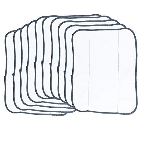 ToDIDAF Ersatzteile für Kehrroboter, Staubsaugerzubehör, 10 Stück trockene Mikrofaser Wischtücher für IROBOT 380t 320 4200 5200C Staubsauger