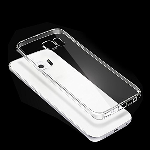 Cover Custodia Samsung Galaxy S7 Edge, Elzo 1.2mm Silicone TPU + PC Telefono Protettiva Case Custodia Shock-Absorption Bumper Cover e Anti-Graffio (5.5 inches) (Transparen Bumper Case) TPU Trasparente