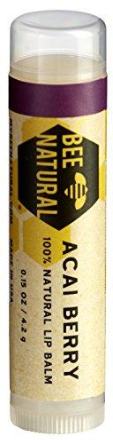 Bee Natural Lippenbalsam Acai Beere, 4er Pack (4 x 4 g)