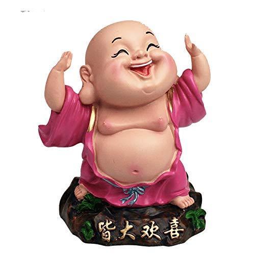 Auto Ornamente niedlich lachen Buddha wie großen Bauch, Milover Paule sichere Harz Nachahmung Porzellan Puppe - Porzellan Wärmer