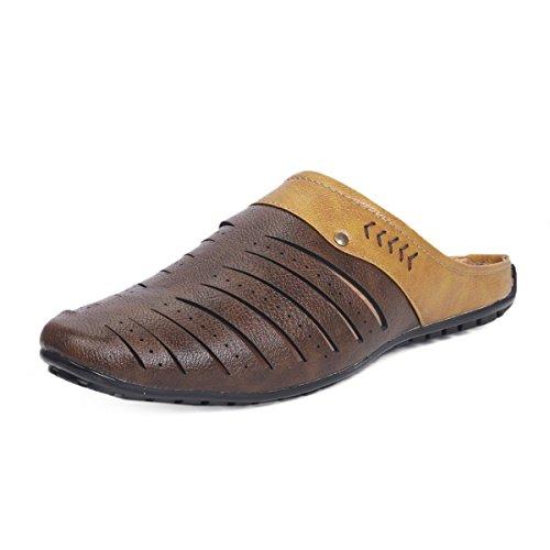 Rockfield Men's Sandals & Floaters Shoes (9, Brown)