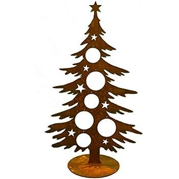 metallmichl edelrost deko tanne 60 cm weihnachtsbaum f r kugeln weihnachtliche deko aus. Black Bedroom Furniture Sets. Home Design Ideas