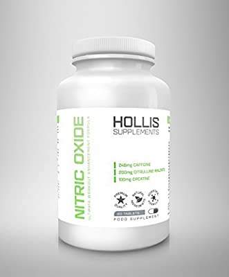 Hollis Supplements Nitric Oxide Pump 60 Tablets Remove Workout Fatigue For Maximum Pumps Free UK Delivery 100% Money Back Guarantee by Made in the UK