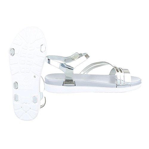 Ital-Design - Scarpe con cinturino alla caviglia Donna Argento