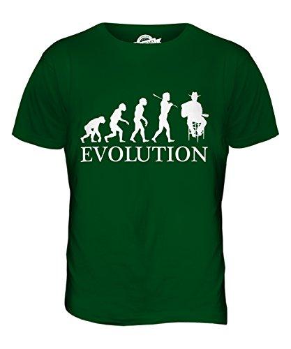 CandyMix Country-Musik Sänger Evolution Des Menschen Herren T Shirt Flaschengrün