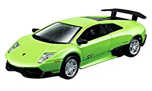 Maisto Power Kruzerz 4.5 Inch Pull Back Action - Lamborghini Murcielago Lp670-4 Sv Diecast Model Car (Green)