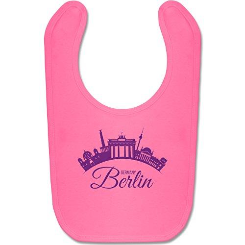 by - Skyline Berlin Deutschland Germany - Unisize - Pink - BZ12 - Baby Lätzchen Baumwolle (Stunden-party-stadt)