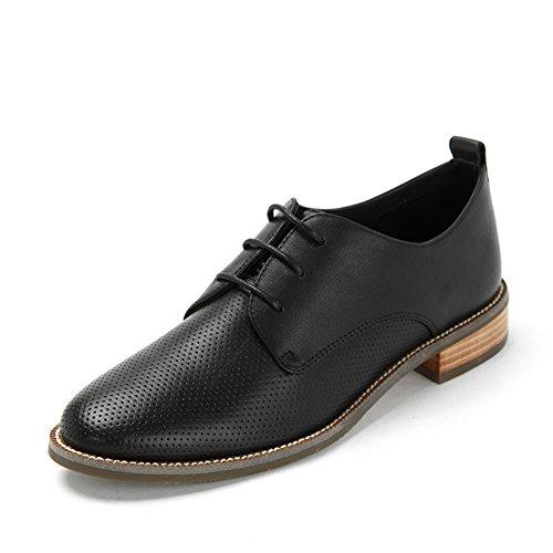Scarpa di vento di primavera College/Testa rotonda scarpe da/Tacco basso piatto Nero
