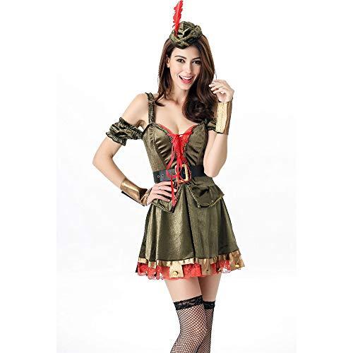 (MAIMOMO Baby Dolls & Negligees Für Damenwomen'S Clothing_European und American Sexy Robin Hood Kostüm Halloween Uniform Masquerade Königin Rolle Spielen, Farbe, Code)