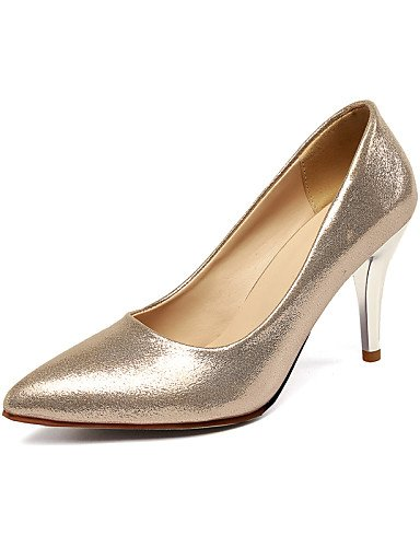 WSS 2016 Chaussures Femme-Bureau & Travail / Décontracté-Bleu / Rouge / Argent / Or-Talon Aiguille-Talons / Bout Pointu-Talons-Tissu silver-us7.5 / eu38 / uk5.5 / cn38