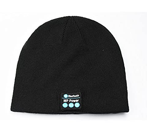 MP power ® Schwarz Wireless Bluetooth Beanie Mütze Smart Cap mit Bluetooth Stereo Kopfhörer Headset Kompatibel mit Smartphone Iphone 7 7 PLUS IPHONE 6 Plus 6s Plus 6 6S 5 5S 4 4S 3G 3GS Samsung Galaxy S7 S6 S6 Edge Edge+ S5 S4 S4 Active S4 Mini S3 S3 Mini S2 Note 4 Ipod Touch 3 4 5 HTC ONE X ONE S Z520E LG G2 G3 G4 Nexus 4 Nexus 6 P760 Nokia Lumia 920 820 Sony Z1 Z2 Z3 C4 C5 M4 M5 Huawei P8 Mate S Ipad Mini 1 2 3 4 Ipad Air Ipad Pro
