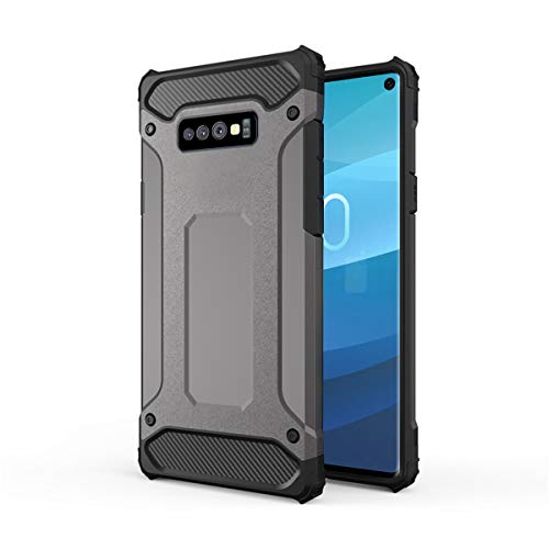 Forhouse Hülle Durable Protective Case Hülle, Thin Anti-Scratch Skin Back Hülle Full Cover für Samsung Galaxy S10 Lite - Grey