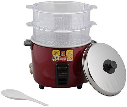 Panasonic SR-WA22H - 750 Watt Automatic Cooker Warmer 5.4 Litre With Double Steamer Basket