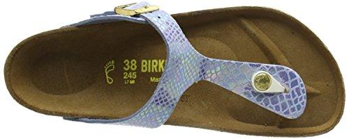 Birkenstock Gizeh - Sandali con Cinturino alla Caviglia Donna Blu (Blau (Shiny Snake Sky))