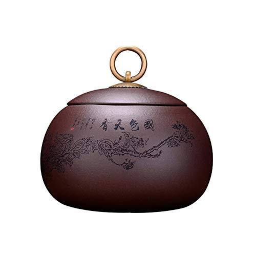 Boîtes à thé AUGAUST La Bague de Levage en cuivre de Conception Originale de Mine de Sable Pourpre de Mine Pourpre est Pratique à Utiliser (Couleur : B, Taille : 8 * 9.5cm)