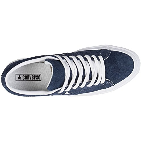 Converse One Star Ox Homme Baskets Mode Bleu Marine Blanc