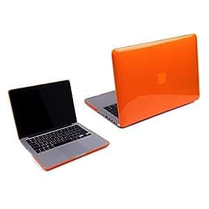"RKA Transparent Glossy Hard Case for MacBook Pro 13.3""-Top and Bottom Case - See Thru Orange"