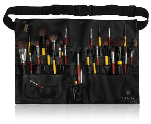 SHANY Cosmetics Professional Vinyl Makeup Apron with Makeup Artist Brush Belt, Light Weight, 8 Ounce by SHANY [Beauty] (English Manual) (Lite Belt)