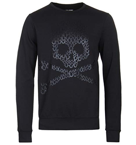 True Religion Black Skull Lightweight Sweatshirt - MEDIUM