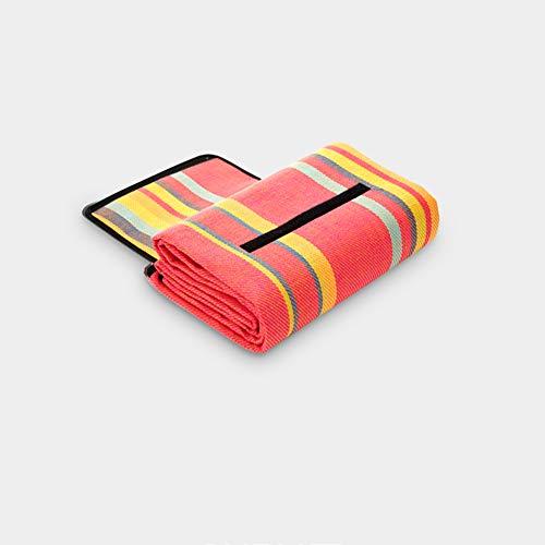 Picknickdecke Teppich im Freien Matte Faltbar tragbar Isomatte 200 x 200 cm / 300 x 300 cm, Dicke 4mm Picknick-Matte Acryltuch wasserdicht Feuchtigkeitsbeständig Indischer Stil Bunt Streifen