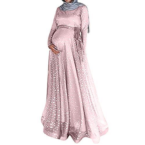 Lonshell Schwangerschafts Kleid Robe Muslim Kaftan Umstandskleid Lange Ärmel Maxikleid Brautkleid Chiffon Kleider Mutterschaft Fotografie Kleidung - Brautkleider ärmeln