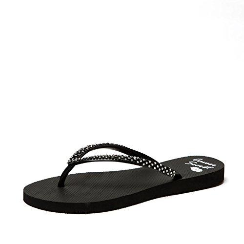 Flip-flop pizzico di moda estate/Sandali strass fondo piatto/Sandali delle signore B