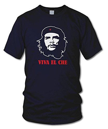 shirtloge - VIVA EL CHE - KULT - Fun T-Shirt - in verschiedenen Farben - Größe S - XXL Navy