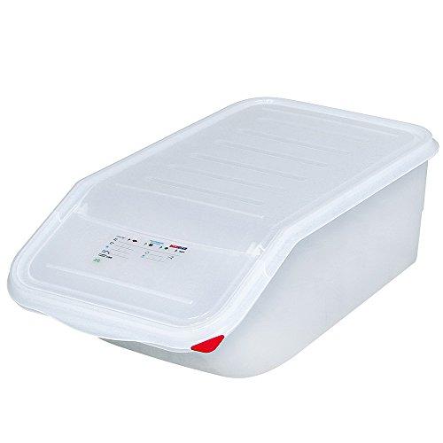 Zutatenbehälter/Vorratsbehälter mit Entnahmeklappe, BxTxH 340 x 565 x 200 mm, 23 Liter Box