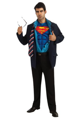 Adult Superman Clark Kent Fancy dress costume X-Large