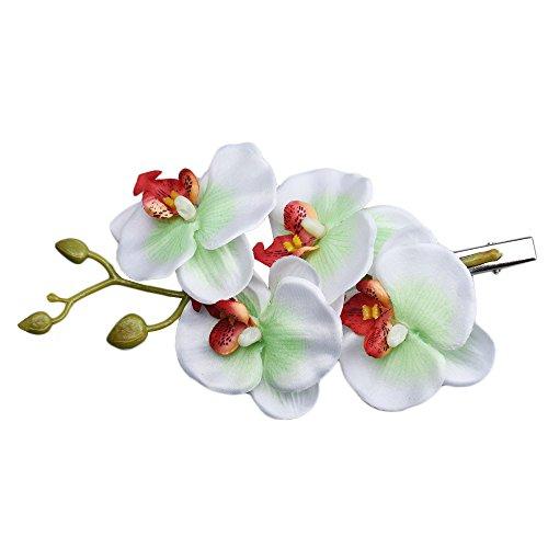 Pince à cheveux, Toamen Fleur papillon Clip d'orchidée Épingle à cheveux mariée Hawaii Party Femmes (B)