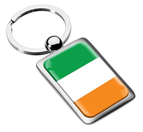 213 Bekleidung (Skino Schlüsselanhänger Irland Ireland Flagge Fahne Metall Keyring Auto Schlüssel Geschenk Metall-Schlüsselanhänger KK 213)