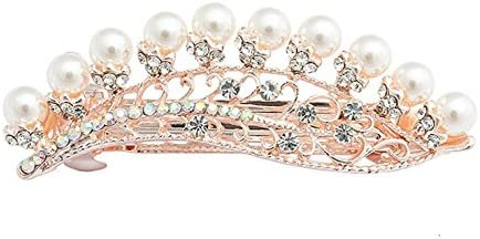 TBOP Hair Clip Exquisite Luxury Full Hair Hairpin Spring Streamline Leaves Clip in Golden Color