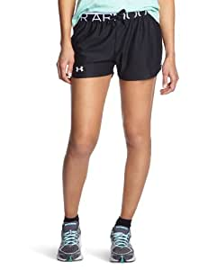 Under Armour Play Up Short Femme Noir/Blanc FR : XS (Taille Fabricant : XS)