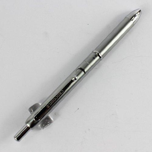 Commercio all'ingrosso nuovo disign argento penna Crocodile 400 multifunzione penna a 3 colori penna a sfera e matita 0,5