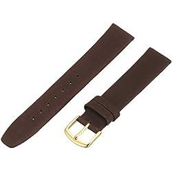 Hadley-Roma Men's MSM831RB-170 17-mm Brown Genuine Calfskin Leather Watch Strap