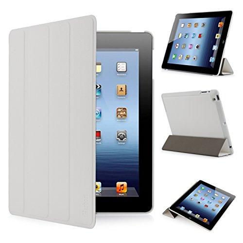 iHarbort® Apple iPad 4 /iPad 3 /iPad 2 Hülle - Ultra Slim Leder Tasche Hülle Etui Schutzhülle Für Apple iPad 4 iPad 3 iPad 2 Case Holder mit automatischer Weckfunktion (weiß) Schweißer Kamera