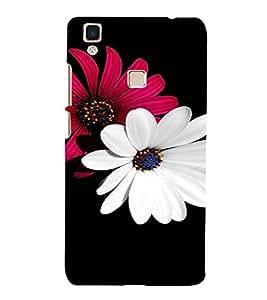 PrintVisa Flower Design 3D Hard Polycarbonate Designer Back Case Cover for VivoV3