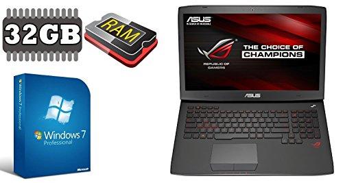 ASUS G751 ~ 500GB SSD + 1TB ~ 32GB RAM ~ WINDOWS 7 PRO ~ 44cm (17.3
